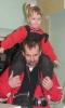 На папы-Кобиной шее. Танцы
