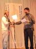 Награждение Акимова Романа поощрительным призом «За упорство»