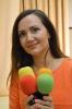 Дарина Литвинова с микрофонами